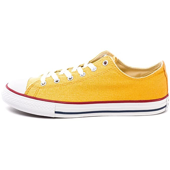 Converse Chuck Taylor All Star Ox Baskets pour Enfant - jaune - Cactus Blossom/Solar Orange, 37 EU