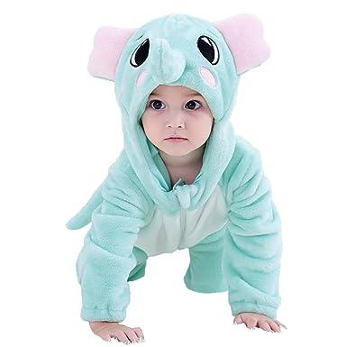 0c58e16d8 Amazon.com  MerryJuly Unisex-Baby Animal Onesie Costume Cartoon ...