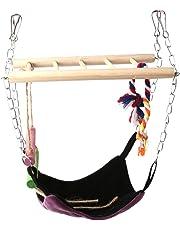 La Cabina Un Pont Suspendu avec Echelle et Hamac Pendaison Escalade pour Jouet de Oiseaux Perroquet et Petit Animaux