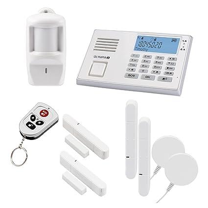 Olympia protect 9061 sistema de alarma en blanco GSM radio Set 1 x Sensor de movimiento