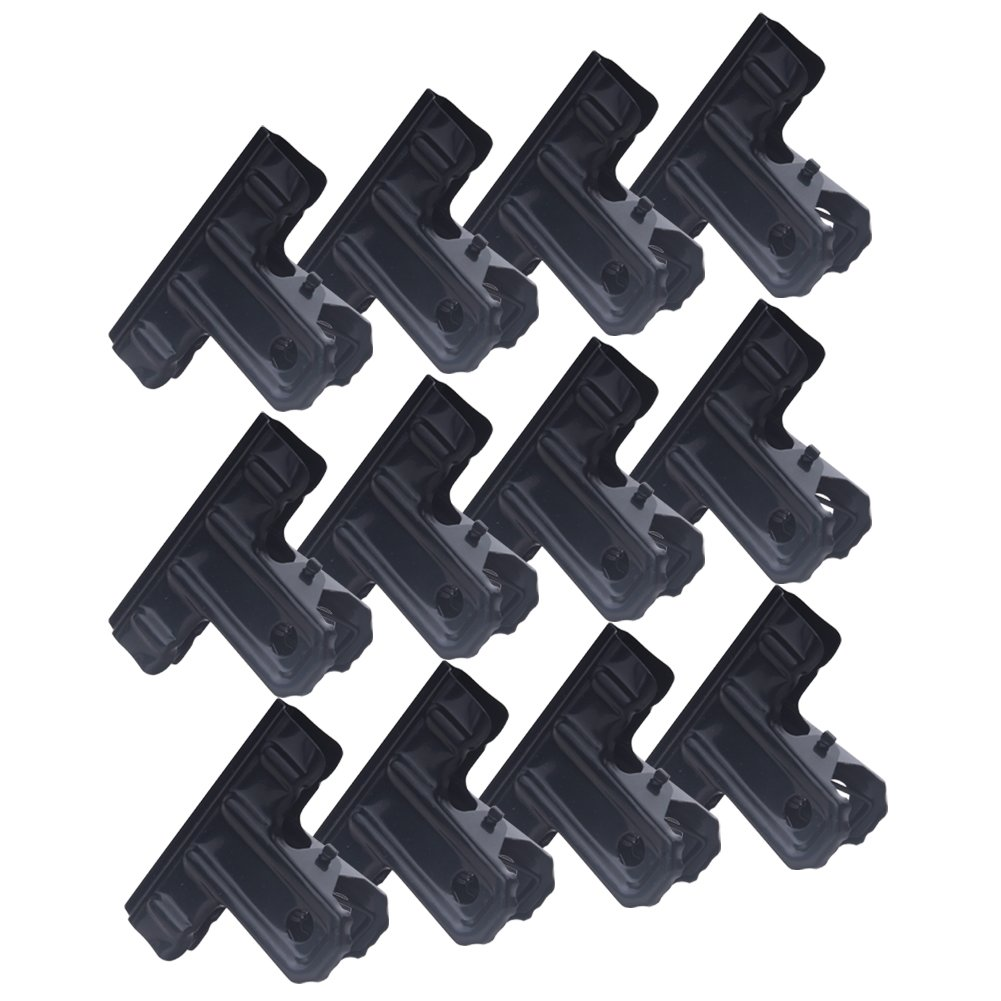 Zicome 2-Inch Black Large Metal Binder Clips Bulldog Clips, 12 Pack