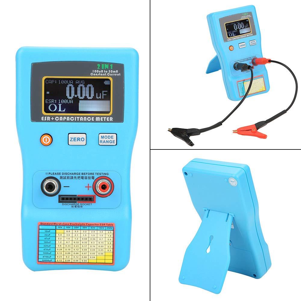 Akozon condensateurs MEC-100 ESR capacim/ètre /électrolytique de mesure automatique de la plage daffichage num/érique