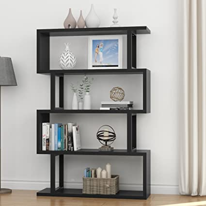 Tribesigns 4 Shelf Bookshelf, Modern Bookcase Display Shelf Storage  Organizer For Living Room, Home