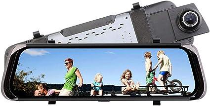 Dash Cams For Cars 1080P FHD, Grabador de conducción de video en espejo retrovisor, DVR con sensor G, Grabación de bucle Modo de estacionamiento Detección de movimiento: Amazon.es: Coche y moto