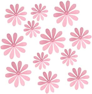 12pcs 3D Romantic Pink Flower Stickers Creative Removable Wall Decoration