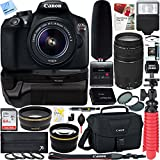 Canon T6 EOS Rebel DSLR Camera + 18-55mm & 75-300mm Dual Lens Tascam Video Creator Kit