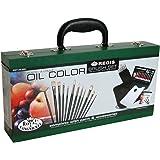 Royal & Langnickel - Set colori a olio con pennelli, in valigetta di legno