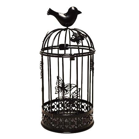 Dosige. Candelabro de Hierro Forjado Hueco Jaula de pájaros ...