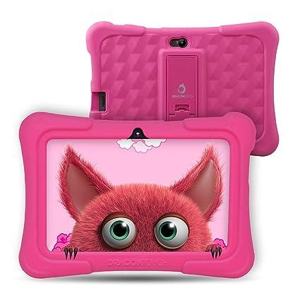 Dragon Touch Tablet para Niños con WiFi Bluetooth 7 Pulgadas 1024x600 Tablet Infantil de Android 9.0 Quad Core 2GB 16GB Doble Cámara Kid-Proof Funda ...