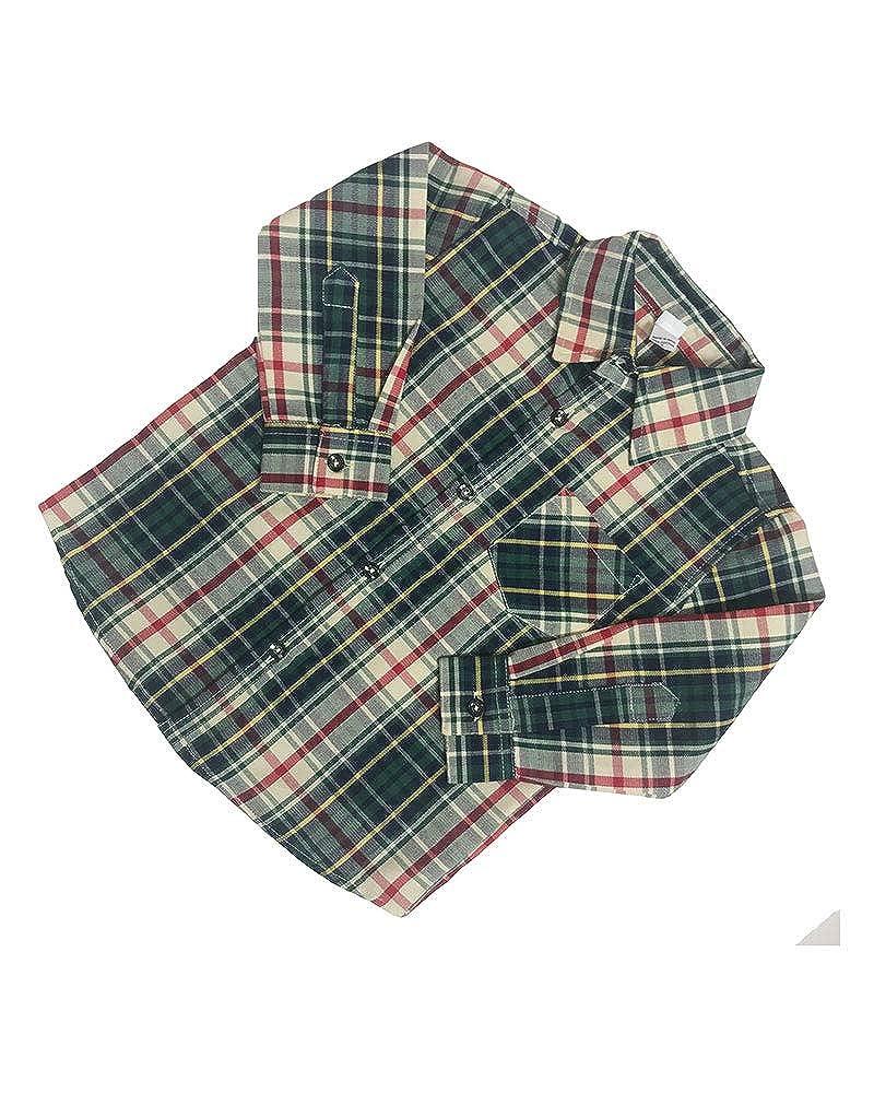Monag Toddler Long Sleeve Plaid Shirt 410005-$P