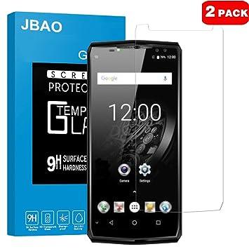 JBAO OUKITEL K10 Protector de Pantalla, Templado Protector de Pantalla de Cristal, 0,3mm/2.5D, Anti-Huellas Dactilares, Anti-arañazos de Vidrio ...
