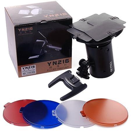 YONGNUO YN-216 YN216 Pro luz de v/ídeo LED 5500K para Canon Nikon DSLR DV de la c/ámara y videoc/ámara NAMVO Difusor AC adaptador