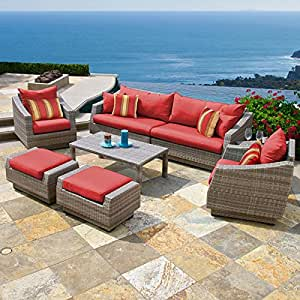 Cannes 8 Piece Sofa and Club Chair Set