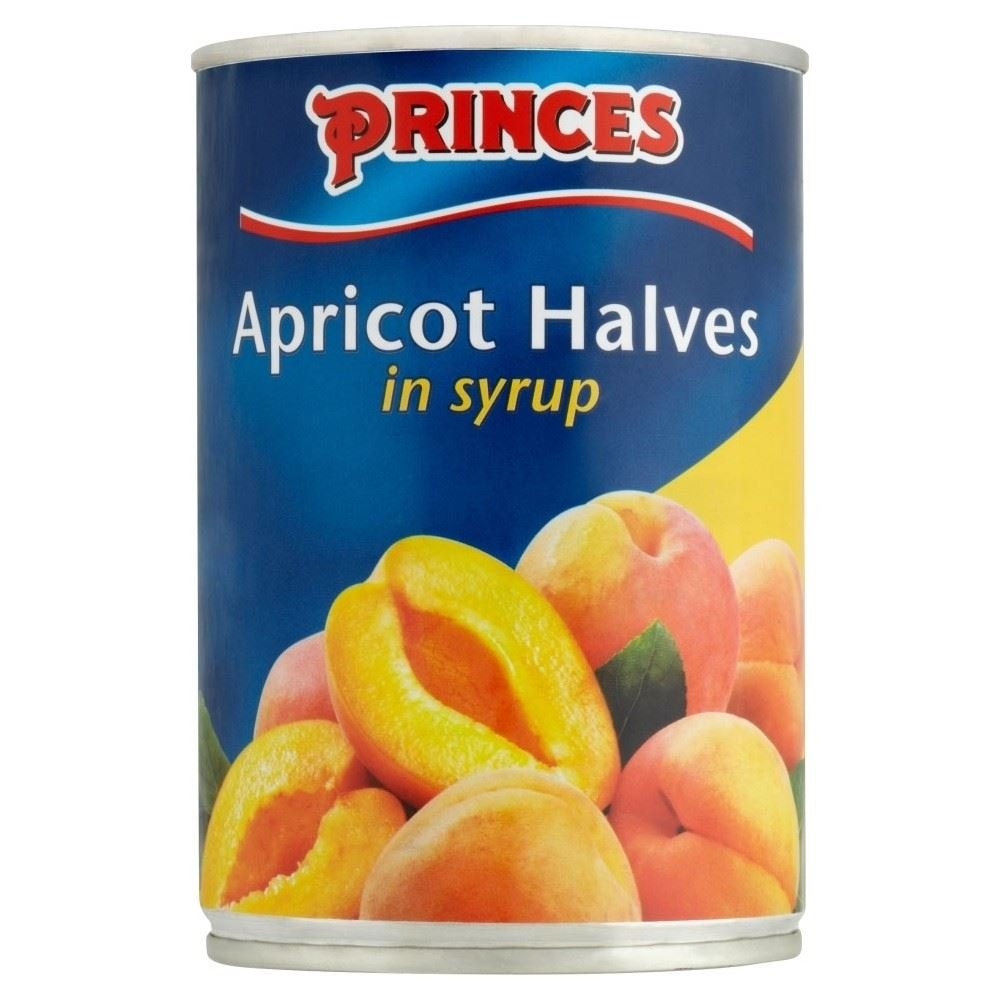 Princes Apricot Halves in Light Syrup (410g) - Pack of 2