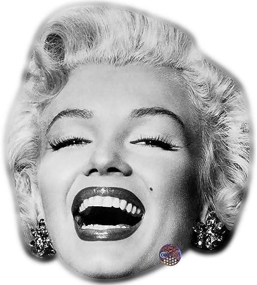 Marilyn Monroe (BW) máscara de Celebridad, Tarjeta Cara y Disfraz ...