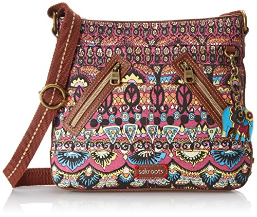 Sakroots Artist Circle East/West Cross Body Bag, Orchid One World, One Size