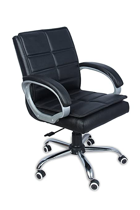 Nice Chair Leather High Back Executive Office Revolving Ones (Black)