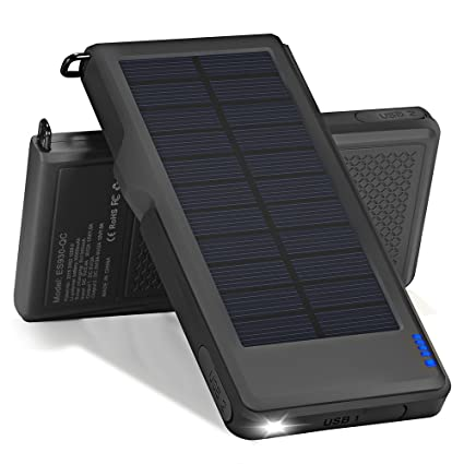 huge selection of 9fa53 7191d Amazon.com: Titita Solar Charger, 10000mAh Quick Charge 3.0 Solar ...