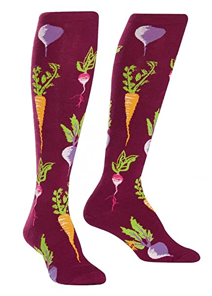 Calcetín It To Me - turnip The Beet - Divertido CALCETINES MUJER LARGO , Happy Socks