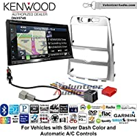 Volunteer Audio Kenwood DNX574S Double Din Radio Install Kit with GPS Navigation Apple CarPlay Android Auto Fits 2009-2012 Hyundai Genesis (Silver) (Automatic A/C controls)
