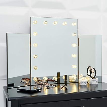 best website 6d12e 4d07c GloBrite LED Light Up Glass Hollywood Glamour Dressing Table ...