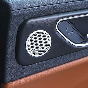 for Alfa Romeo Giulia 2017-2019 Aluminum Alloy Car Rear Door Speaker Cover Trim