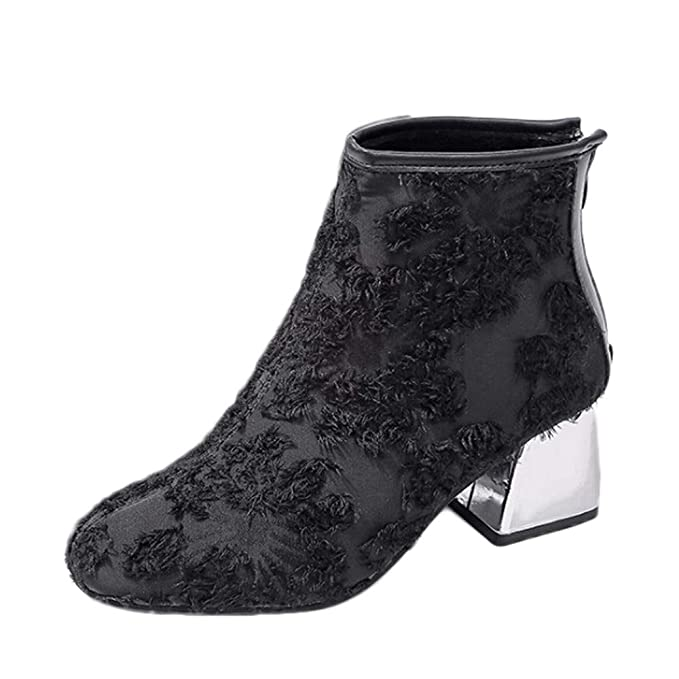 Scarpe Stivali Donna Invernali LianMengMVP Stivaletti da Donna Stivali da  Neve Scarpa Donna Sandali con Tacchi 1773198dd40