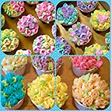 DELUXE Russian Piping Tips 52pcs Icing tips Russian tips Russian Nozzles For Cake Cupcake Decorating supplies Frosting tips Baking Supplies Set 29 Icing Nozzles EXTRA LARGE Cake Decorating Tips Set