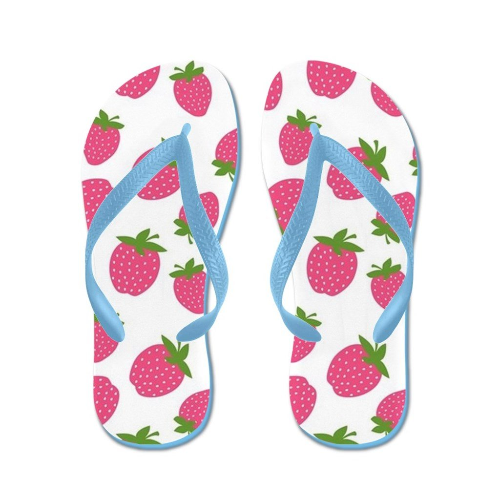 Lplpol Pink Strawberry Pattern Flip Flops for Kids and Adult Unisex Beach Sandals Pool Shoes Party Slippers