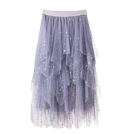 Qijinlook 💖/Falda largas Tul Mujer 💖 Fiesta Elegantee/Falda ...