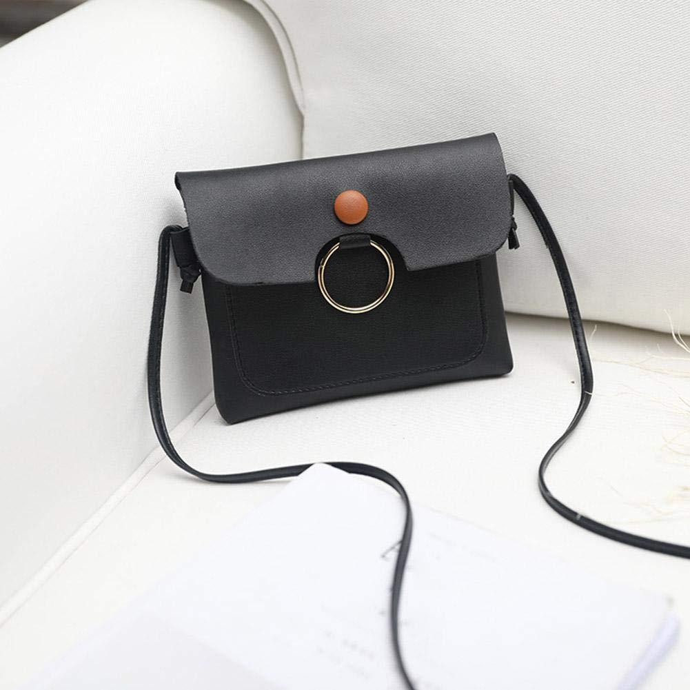 by newzeroin Pink Circle Shoulder Flap Handbags Women Small Leather Crossbody Bags