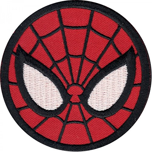 """Marvel Comics The Amazing Spiderman Mask 3"""" Logo Sew Ironed On Badge Embroidery Applique Patch"""