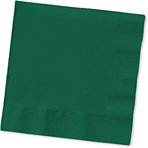 Creative Converting Touch of Color 200 Count 2-Ply Paper Beverage Napkins, Hunter Green - 253124