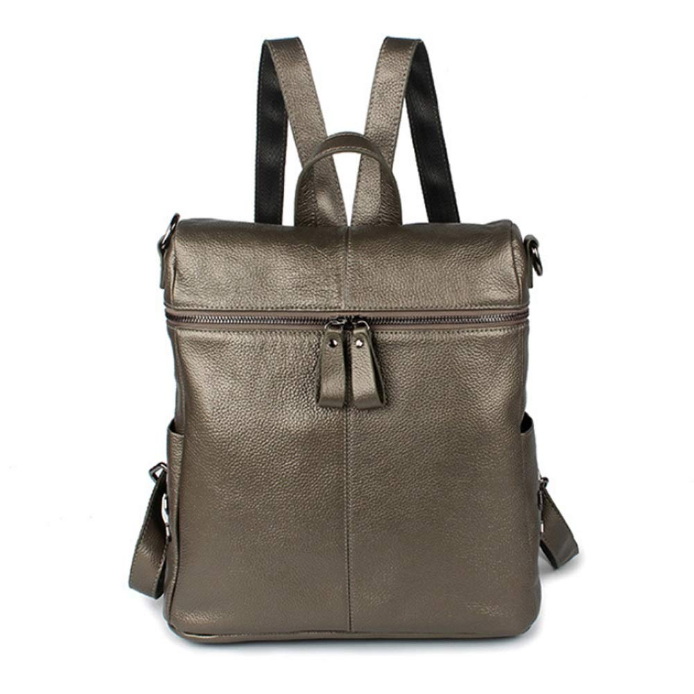 A 29cm32cm13cm Women's Leather Backpack, Rucksack Ladies Shoulder Bags Handbag Vintage Casual Daypack for Work, School, Travel (color   A, Size   29cm32cm13cm)