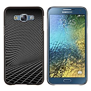 KLONGSHOP // Cubierta de piel con cierre a presión Shell trasero duro de goma Protección Caso - Geometría abstracta - Samsung Galaxy E7 E700 //