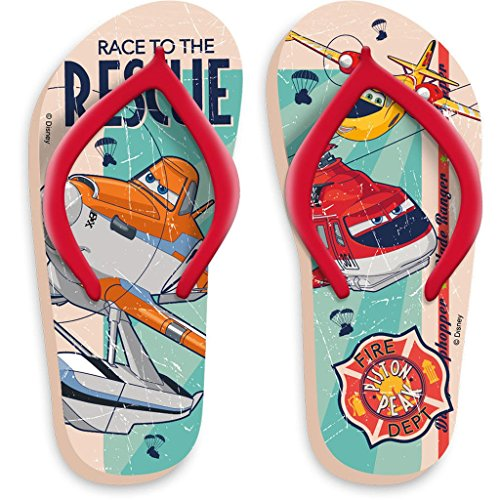 Disney Pixar Planes Flip Flops in Rot, Gelb oder Orange Gr. 23/24, 25/26, 27/28, 29/30 Rot