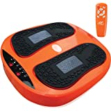 Power Legs Vibration Plate Foot Massager Platform with Rotating Acupressure Heads Multi Setting Electric Foot Massager…