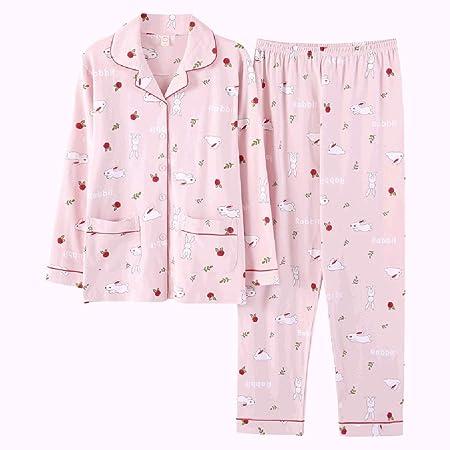 bc588444cf ShenZuYangShop Pajamas nightclothes pink loose sweet princess pajamas  ladies cotton long-sleeved small fresh autumn