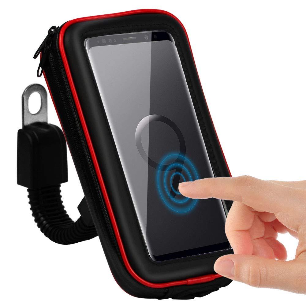 CLM-Tech Bicicleta Soporte para Teléfono móvil, Impermeable ...