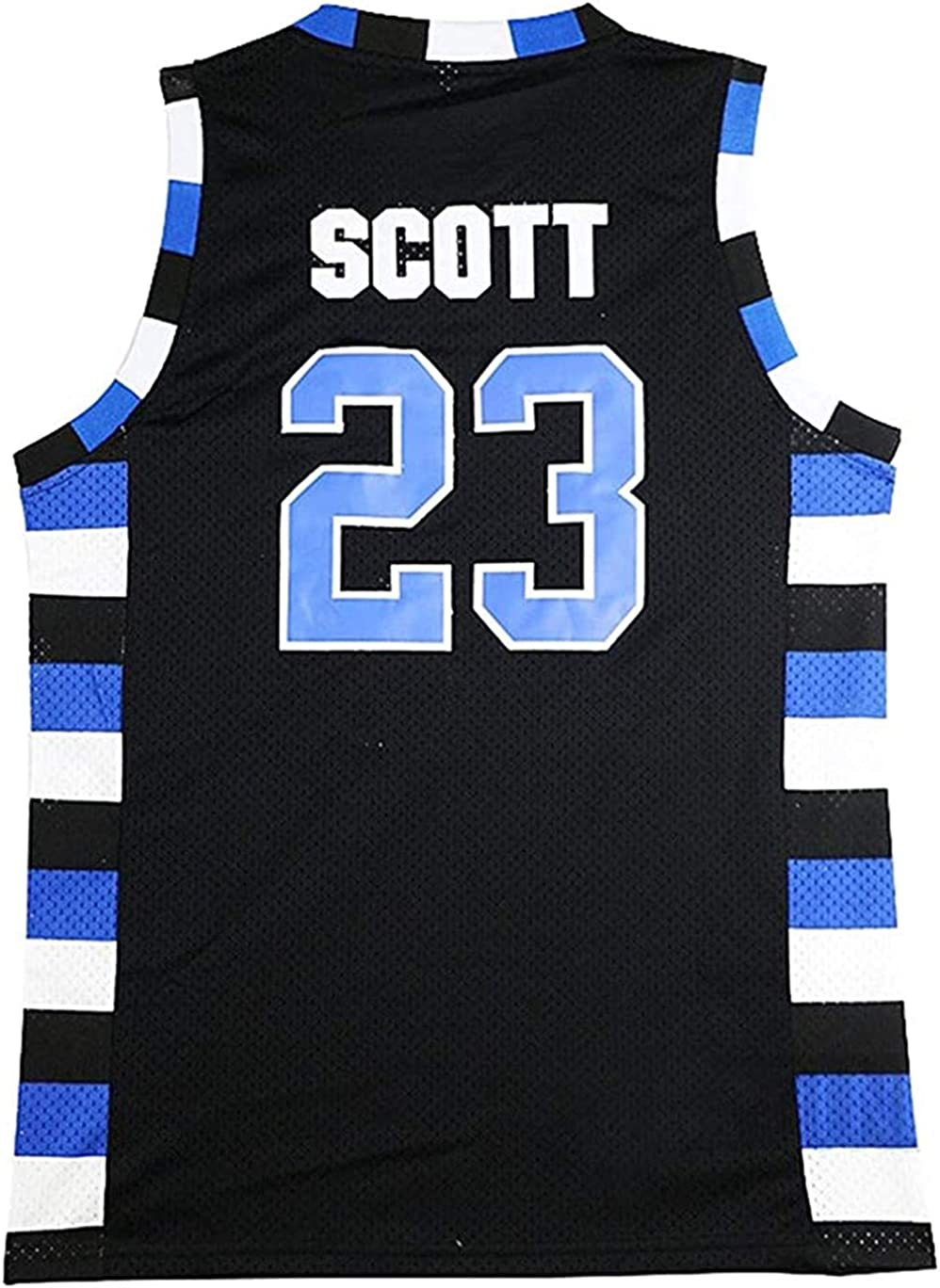 Mens Ravens Lucas Scott #3 Basketball Jersey #23 Nathan Scott Sports Movie Jersey Black
