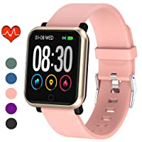 Fitness Tracker, Waterproof Activity Tracker, Smart Watch with Heart Rate Monitor, Sleep Monitor, Pedometer, Calorie Counter Sports Fitness Watches for Men Women
