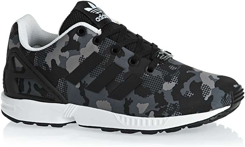 ADIDAS Chaussures ZX FLUX J CAMOUFLAGE Noir