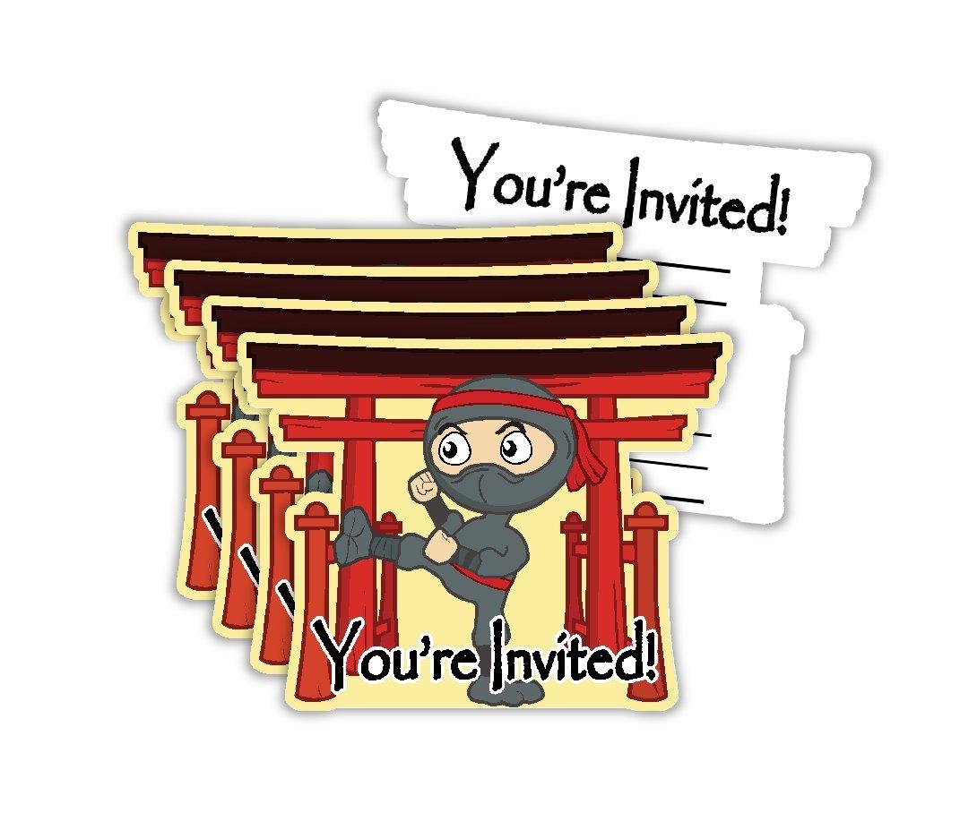 Amazon.com: Ninja Warrior Birthday Party Invitations & Envelopes ...