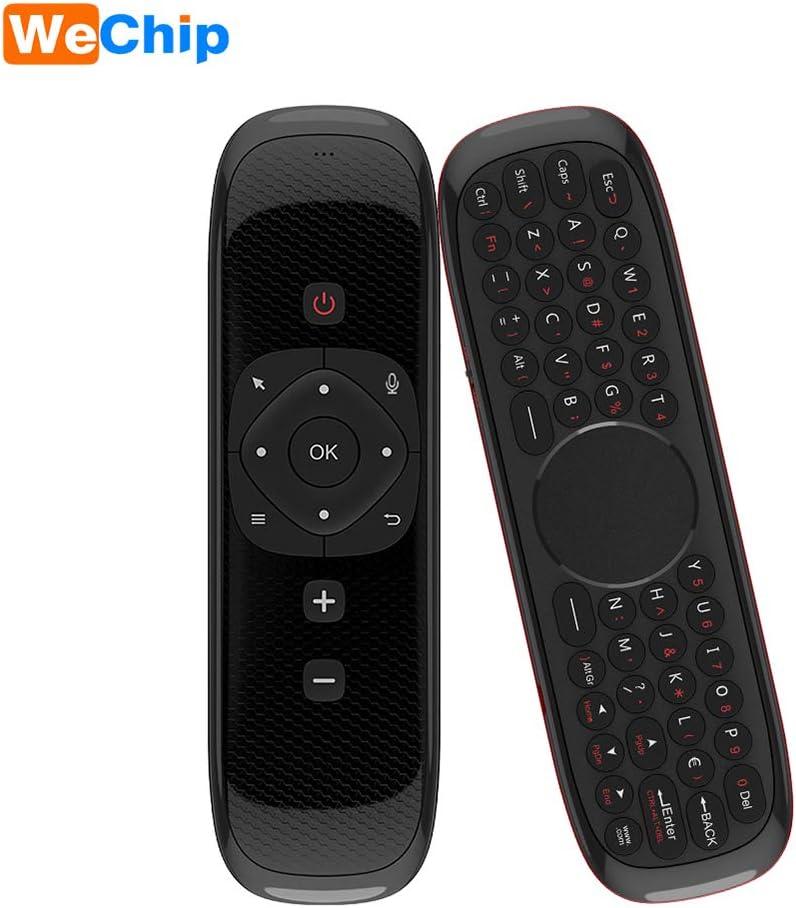 Docooler Wechip W2 2.4G Ratón de Aire Teclado inalámbrico con Touchpad Mouse Control Remoto por Infrarrojos para Android TV Box PC Proyector