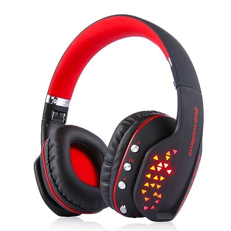 Bluetooth Auricular Gaming Inalámbrico, MindKoo Auriculares Profesional de Diadema Manos Libres Casco de Videojuego Sonido