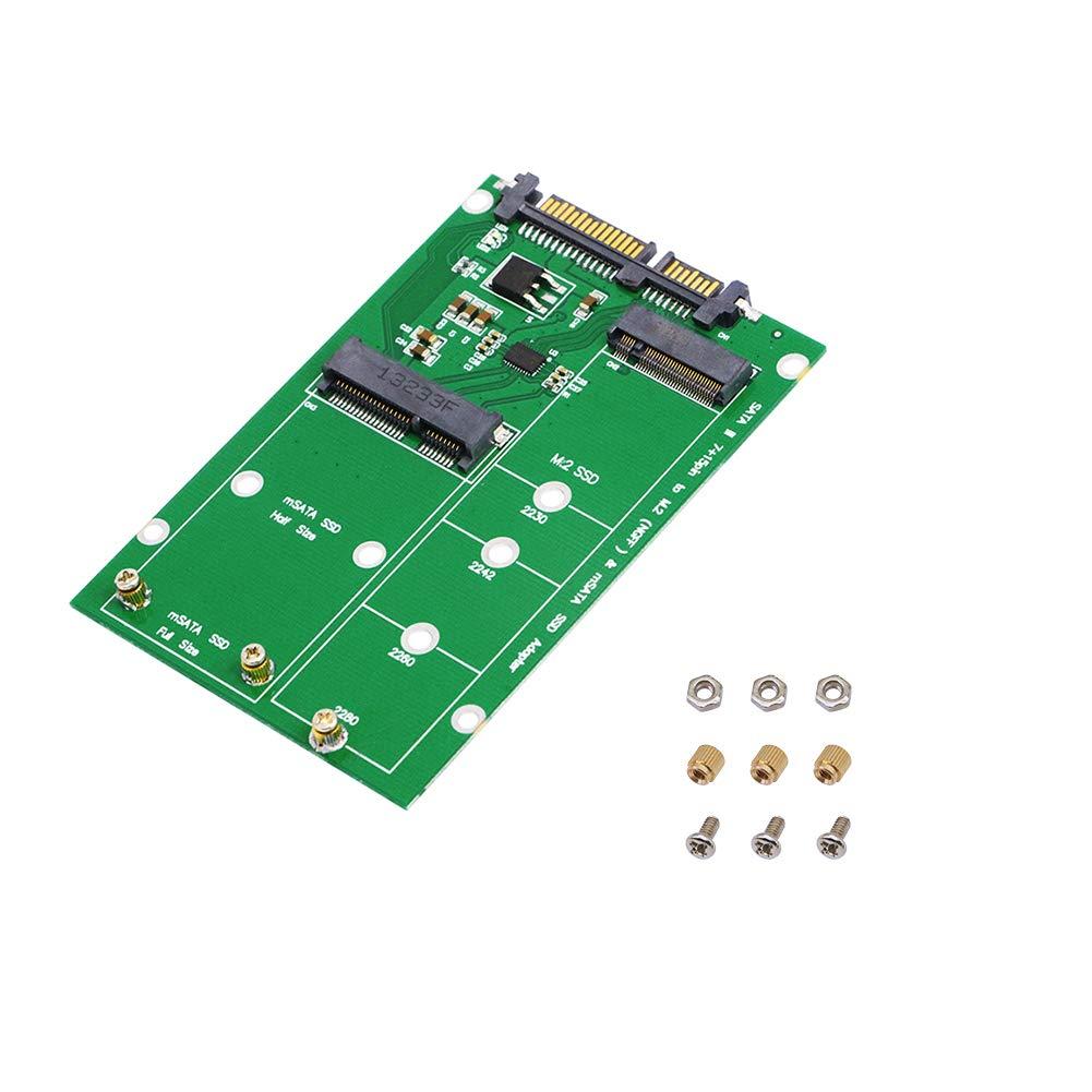 SinLoon 2 en 1 combina Mini PCI-E M.2 NGFF y mSATA SSD al convertidor de adaptador SATA 3.0 (SATA3.0 / M)
