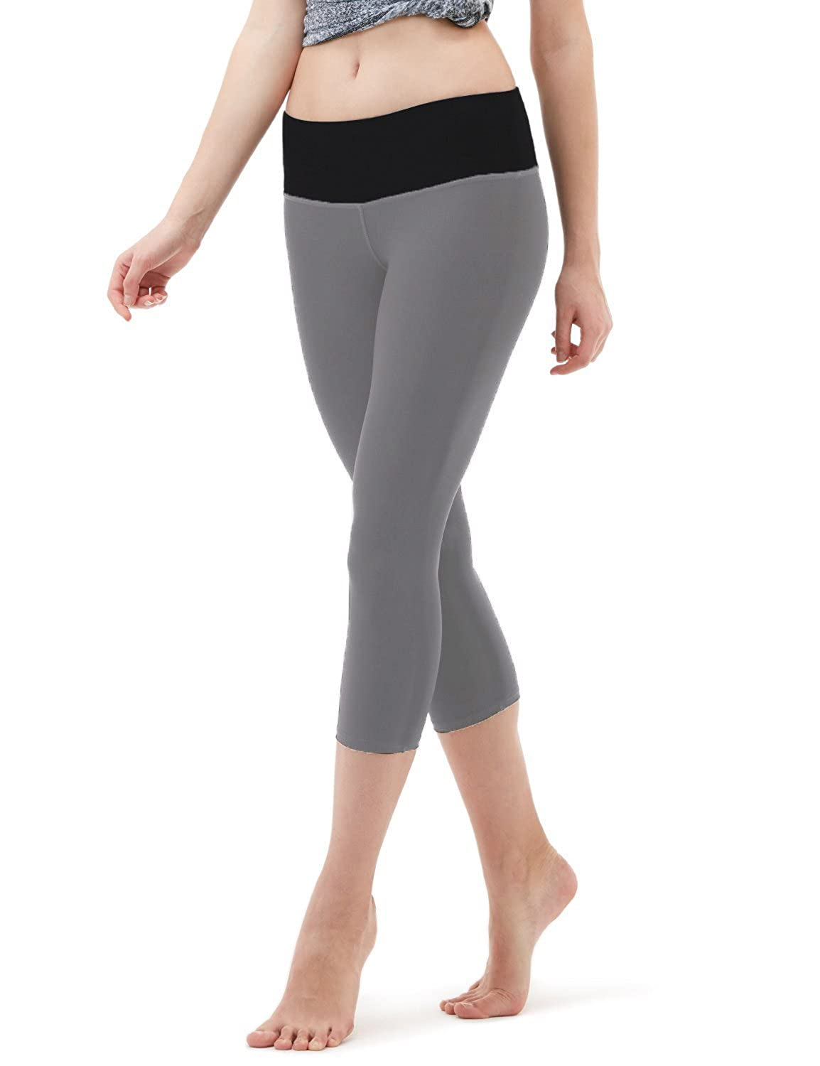 dd8d2149bfe558 STRONG ELASTIC WAISTBAND : Women everywhere love our capr leggings because  they feature a strong elastic waistband that delivers a moderate level of  ...
