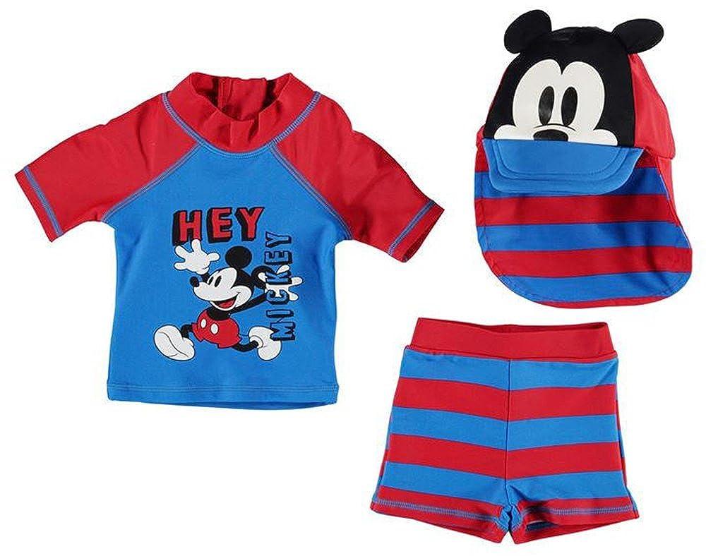 Character Babies Girls Boys Branded Disney Print 3 Piece Swim Set
