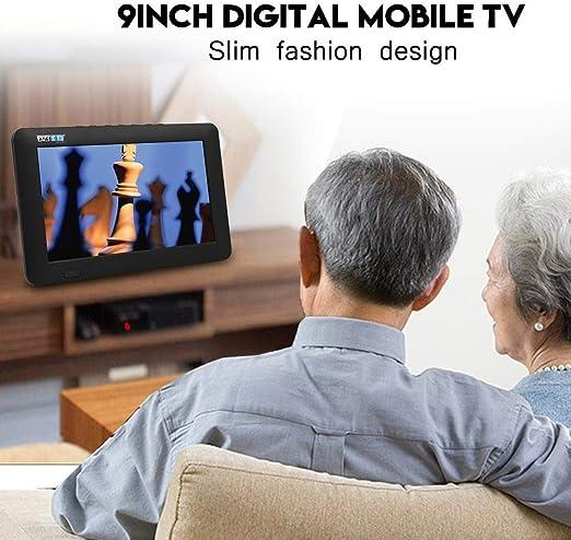 TV Digital portátil de 9 Pulgadas DVB-T/ATSC/ISDB, 1080P HD TFT LED Reproductor de televisión de TV analógica Digital móvil, Entrada de Video/Canal, Tarjeta USB/TF/RMVB/AVI/MPEG/MKV/MOV (DVB-T): Amazon.es: Electrónica
