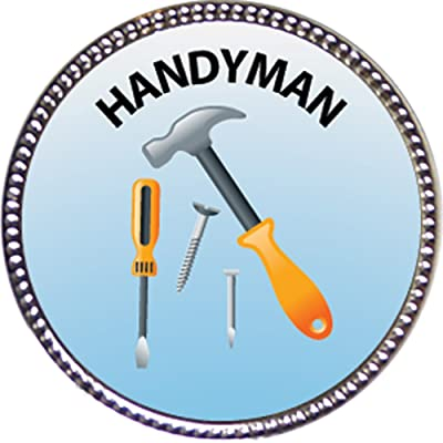 Keepsake Awards Handyman Award, 1 inch Dia Silver Pin Special Knowledge Collection: Toys & Games